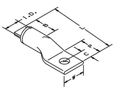 3M 40056 Copper/Aluminum 1-Hole Lug