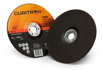 3M Cubitron II Cut and Grind Wheel T27 28760, 7 in x 1/8 in x 7/8 in, 10 per inner, 20 per case