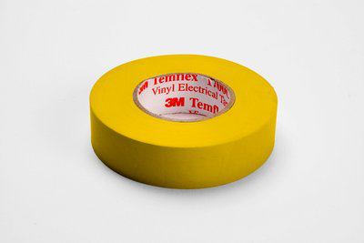 MMM 1700C-YELLOW 3/4X66FT VINYL COLOR CODING TAPE