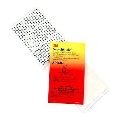 3M 3M ScotchCode Pre-Printed Wire Marker Book SPB-01