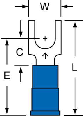3M MNG14-10FBX 100/Bottle Nylon Insulated Block Fork