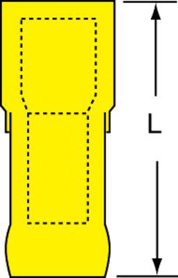3M MNGI10-250DFIX 50/Bottle Nylon Insulated Female Disconnect