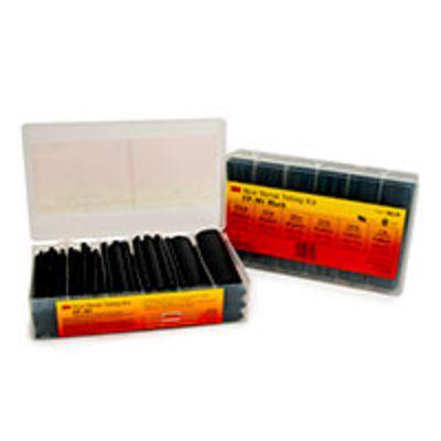 3M Heat Shrink Tubing Assorted Black Kit FP-301-Black, 5 Kits/Case
