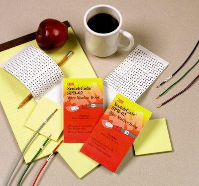 3M 3M ScotchCode Pre-Printed Wire Marker Book SPB-02