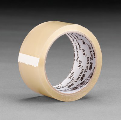 Tartan Box Sealing Tape 305 Clear, 48 mm x 50 m, 36 rolls per case Bulk