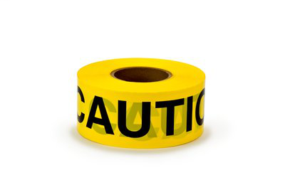 3M Industrial Safety 330 3 x 0.003 Inch x 1000 Foot CAUTION Legend Yellow Polyethylene Film Barricade Tape
