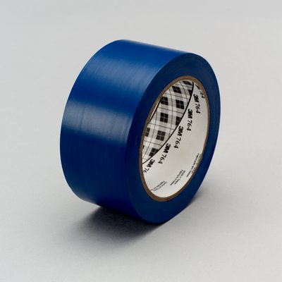 3M General Purpose Vinyl Tape 764 Blue, 1 in x 36 yd 5.0 mil, 36 per case Bulk