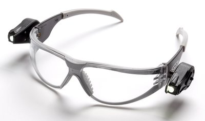 3M 11356-00000-10 LIGHT VISION LEDEYEWEAR 10 EA/CASEGRAY BROWN AND TEMPLES FRAME, 1SIZE FITS ALL LENS