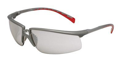 3M Industrial Safety 12268-00000-20 Silver/Red Frame I/O Mirror Lens Protective Eyewear