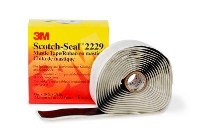 3M Scotch-Seal Mastic Tape Compound 2229, 3-3/4 in x 10 ft, Black, 1 roll/carton, 8 rolls/case