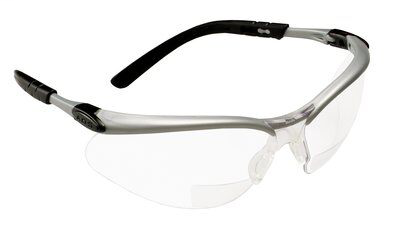 3M Industrial Safety 70071539574 11375-00000-20 +2 Dioptre Clear Lens Silver Frame BX Reader Protective Eyewear