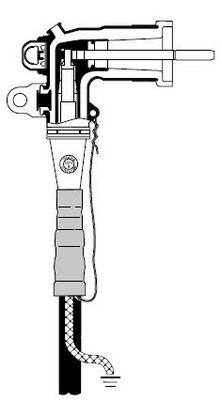 3M 5810-B-1/0 15 kV - 200 Amp Industrial Loadbreak Elbow Connector