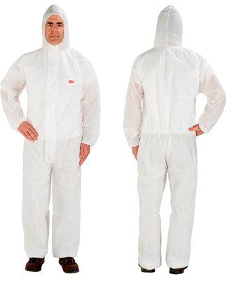 3M> 4515-XL-WHITE DISPOSABLE PROTECTIVE COVERALL