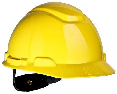 3M Industrial Safety H-702R 4-Point Ratchet Suspension Yellow Hard Hat
