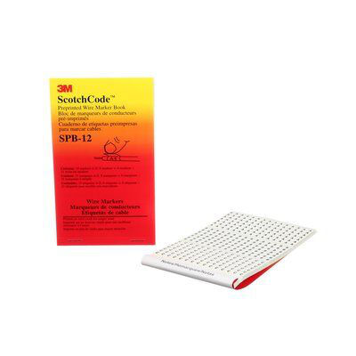 3M Electrical SPB-12 A to Z + - _ Legend Pre-Printed Write-On Wire Marker Book