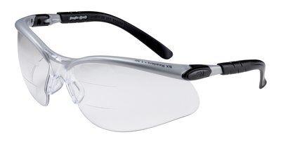 3M 11457-00000-20 BX Dual Reader Clear Anti-Fog Lens Silver/Black Frame 15 Protective Eyewear