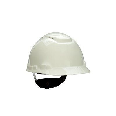 Mayer-3M Hard Hat with Uvicator H-701V-UV, Vented ,White, 4-Point Ratchet Suspension, 20 EA/Case-1