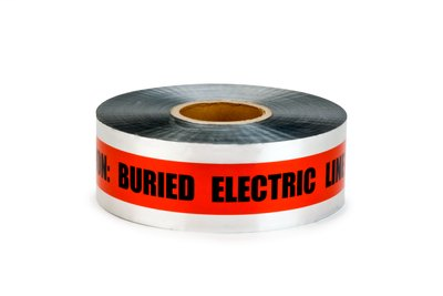 """Mayer-3M 406 Caution Buried Electric Line Below (Red) 3"""" x 1000ft-1"""