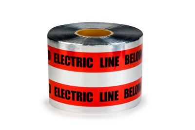 Scotch Detectable Buried Barricade Tape 408 – CAUTION BURIED ELECTRIC LINE BELOW – 4 Rolls/Case