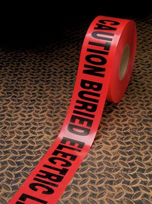 Scotch Buried Barricade Tape 303 – CAUTION BURIED ELECTRIC LINE BELOW – 16 Rolls/Case