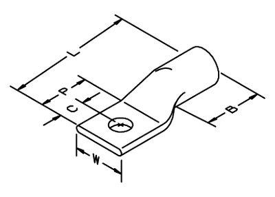 3M 30031 Copper 1-Hole Lug