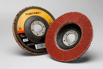 3M 55606 Flap Disc 4-1/2 x 7/8 60+ Cubitron II 967A, T27 Y-weight, 10 per case