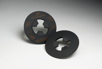 3M Disc Pad Face Plate 14270, 4-1/2 in Hard Black, 10 per case