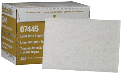 Scotch-Brite Light Cleansing Hand Pad 07445, 6 in x 9 in, 20 pads per box 3 boxes per case