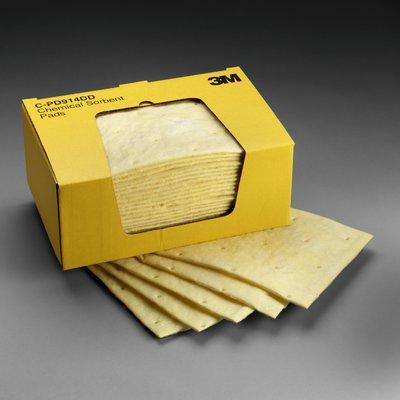 3M Chemical Sorbent Pad P-110, Environmental Safety Product, 17 gallons/cs, 50 pads/bx, 4 bx/cs
