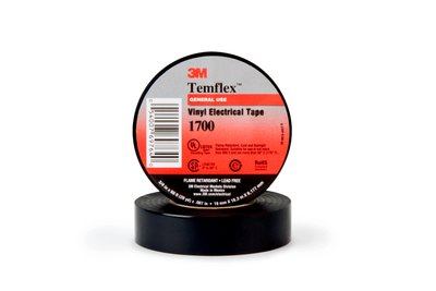 "3M 1700 Tape 3/4"" x 60' Temflex General Use Vinyl Electrical"