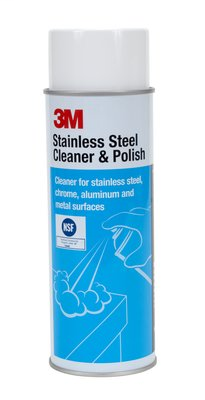 3M Stainless Steel Cleaner and Polish, 21 oz Aerosol, 12/case
