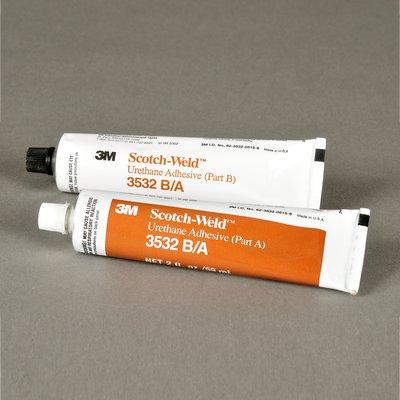 3M Scotch-Weld Urethane Adhesive 3532 Brown Part B/A, 2 fl oz Kit, 6 per case