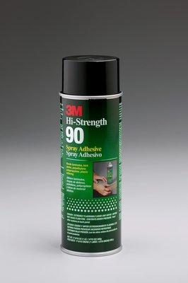 3M Hi-Strength 90 Spray Adhesive Clear, Net Wt 17.6 oz, 12 cans per case