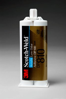 3M 49077 Adhesive DP810 1.7 oz Scotch-Weld Low Odor Acrylic Black Duo-Pak 12 per case