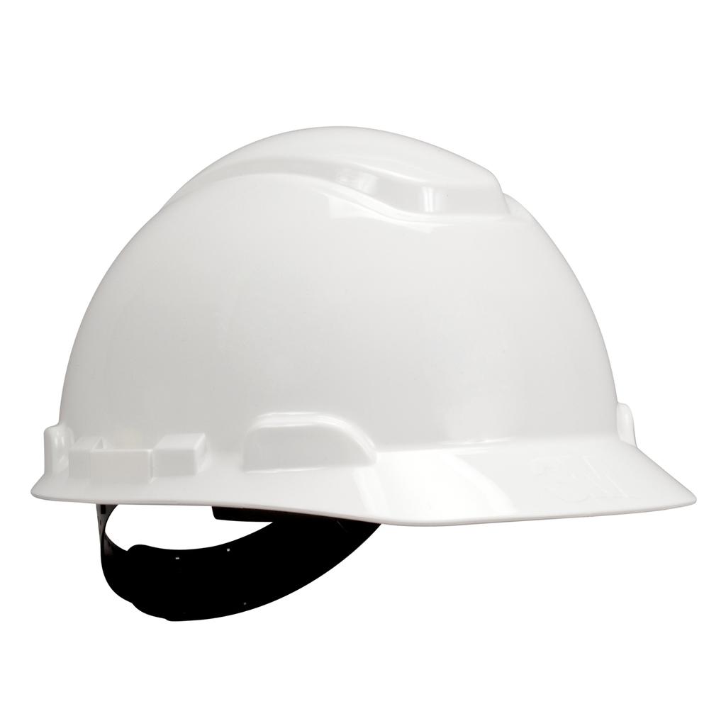 3M Industrial Safety H-701P 4-Point Pinlock Suspension White Hard Hat