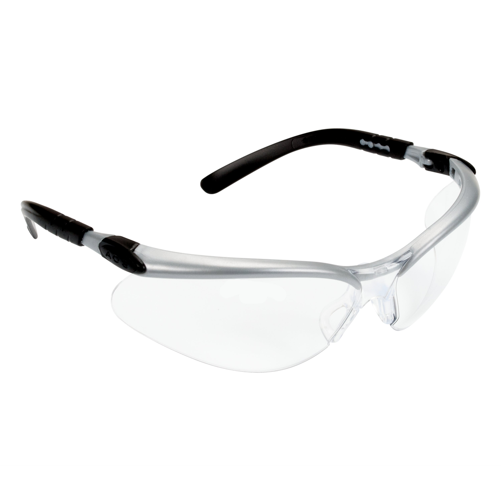 3M Industrial Safety 11380-00000-20 Silver Frame Clear Anti-Fog Lens Protective Eyewear