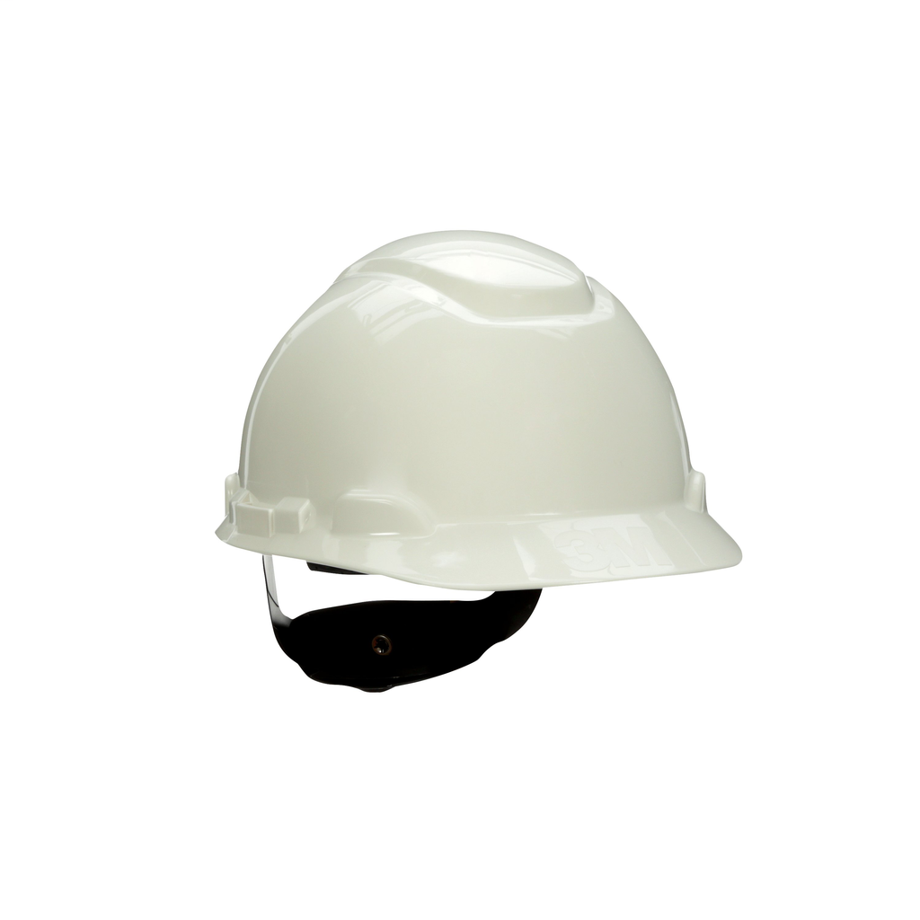 3M H-701R-UV White 4-Point Ratchet Suspension 20/Case with Uvicator Hard Hat