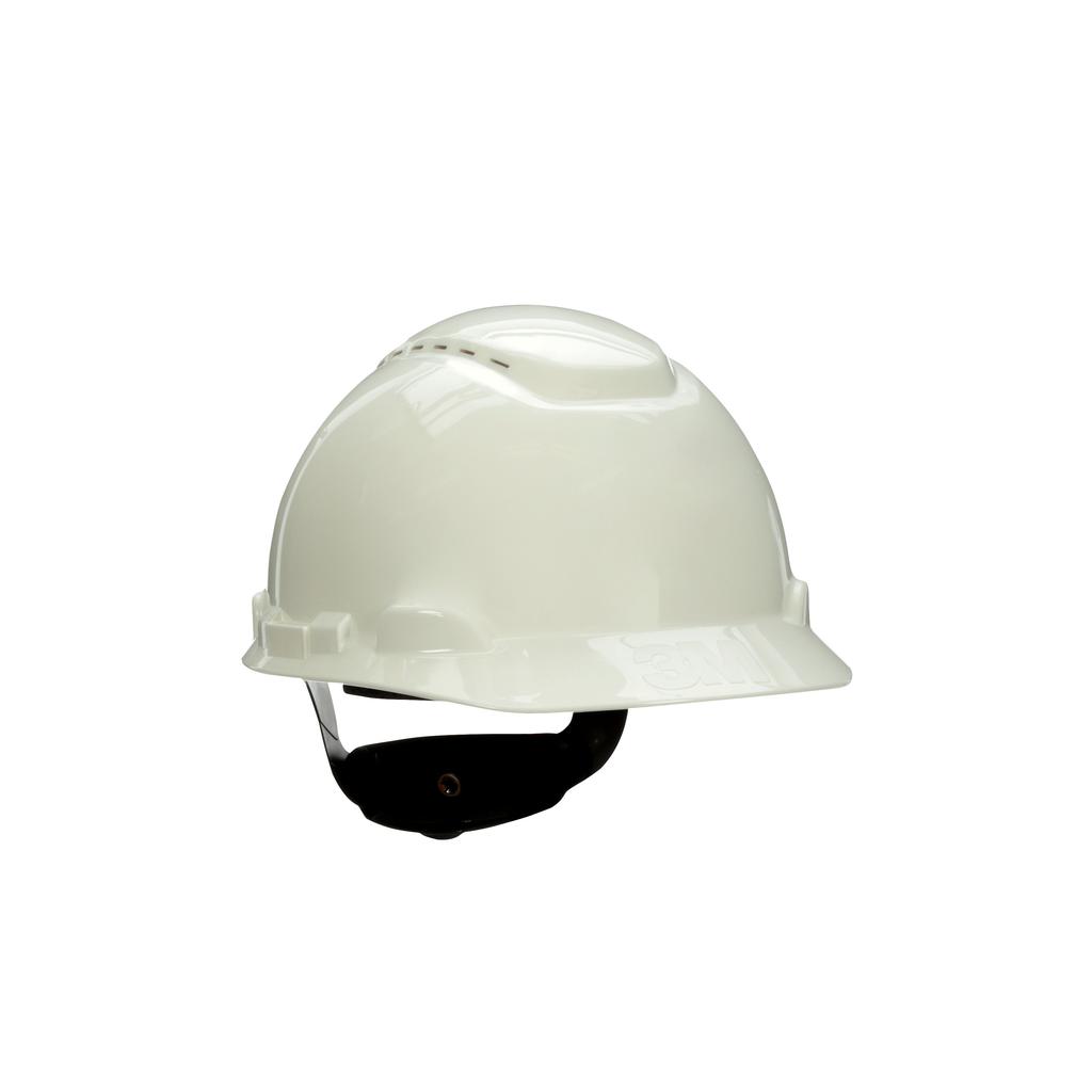 3M 3M™ Hard Hat with Uvicator H-701V-UV, Vented ,White, 4-Point RatchetSuspension, 20 EA/Case
