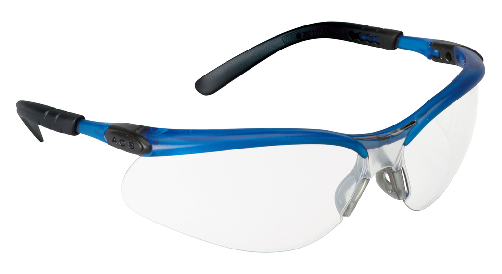 3M Industrial Safety 11471-00000-20 Blue Frame Clear Anti-Fog Lens Protective Eyewear