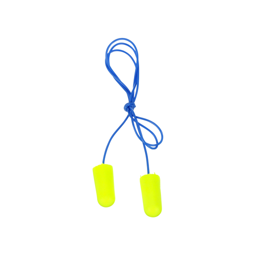 Mayer-3M™ E-A-Rsoft™ Yellow Neons™ Earplugs 311-1250, Corded, Poly Bag,Regular Size, 2000 Pair/Case-1