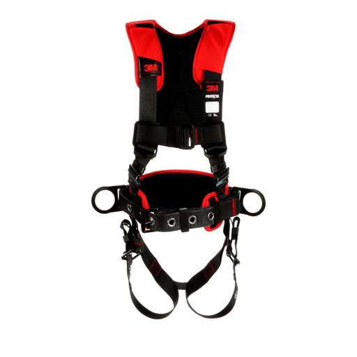 3M™ Protecta® Comfort Construction Style Positioning Harness 1161205,Black, Medium/Large, 1 ea/Case
