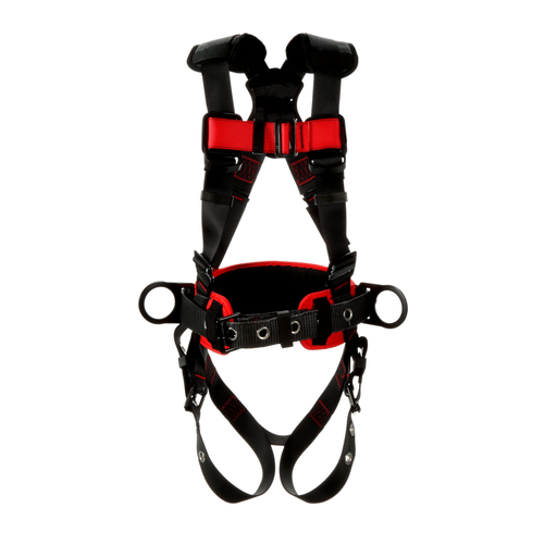 3M™ Protecta® Construction Style Positioning Harness 1161310, Black,X-Large, 1 ea/Case