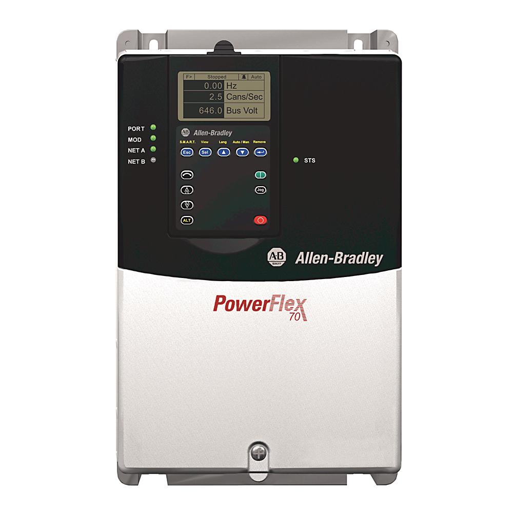 A-B 20AD014A3AYNANC0 480V AC DRIVE PowerFlex 70 10HP 14A
