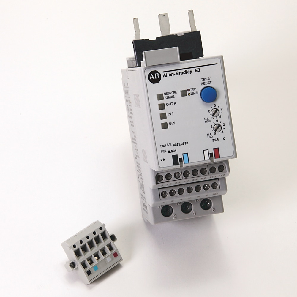 193-EC1, E3 Electronic Motor Protection Relay, 2 Inputs 1 Output, Direct Contactor Mount, 9-45A