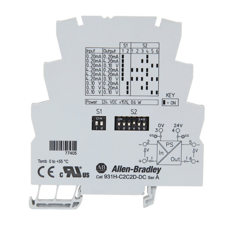 A-B 931H-C2C2D-DC Active Current-Voltage Signal Converter