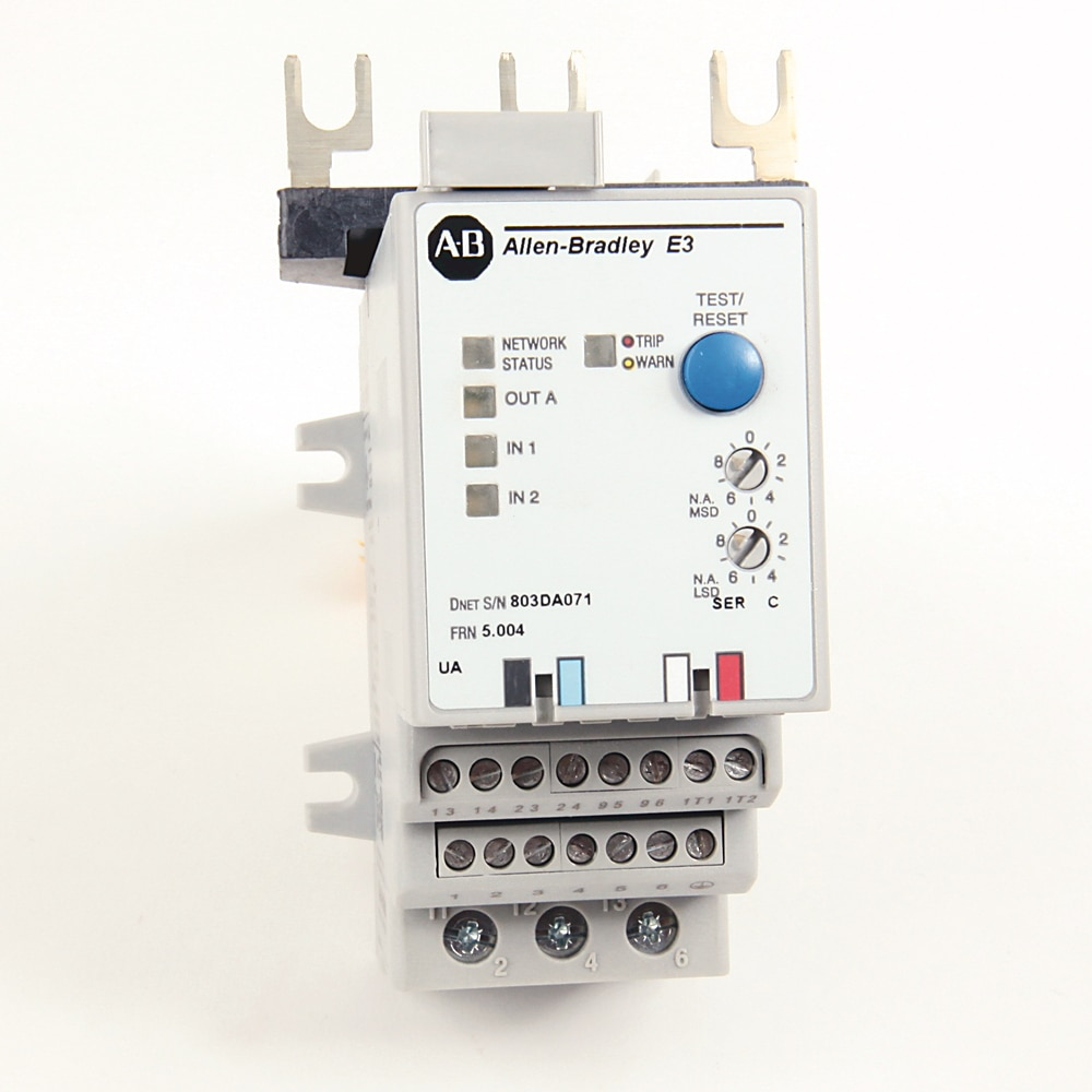 592 E3 and E3 Plus Solid-State Overload Relays, E3 Plus, 3-15A, NEMA 2