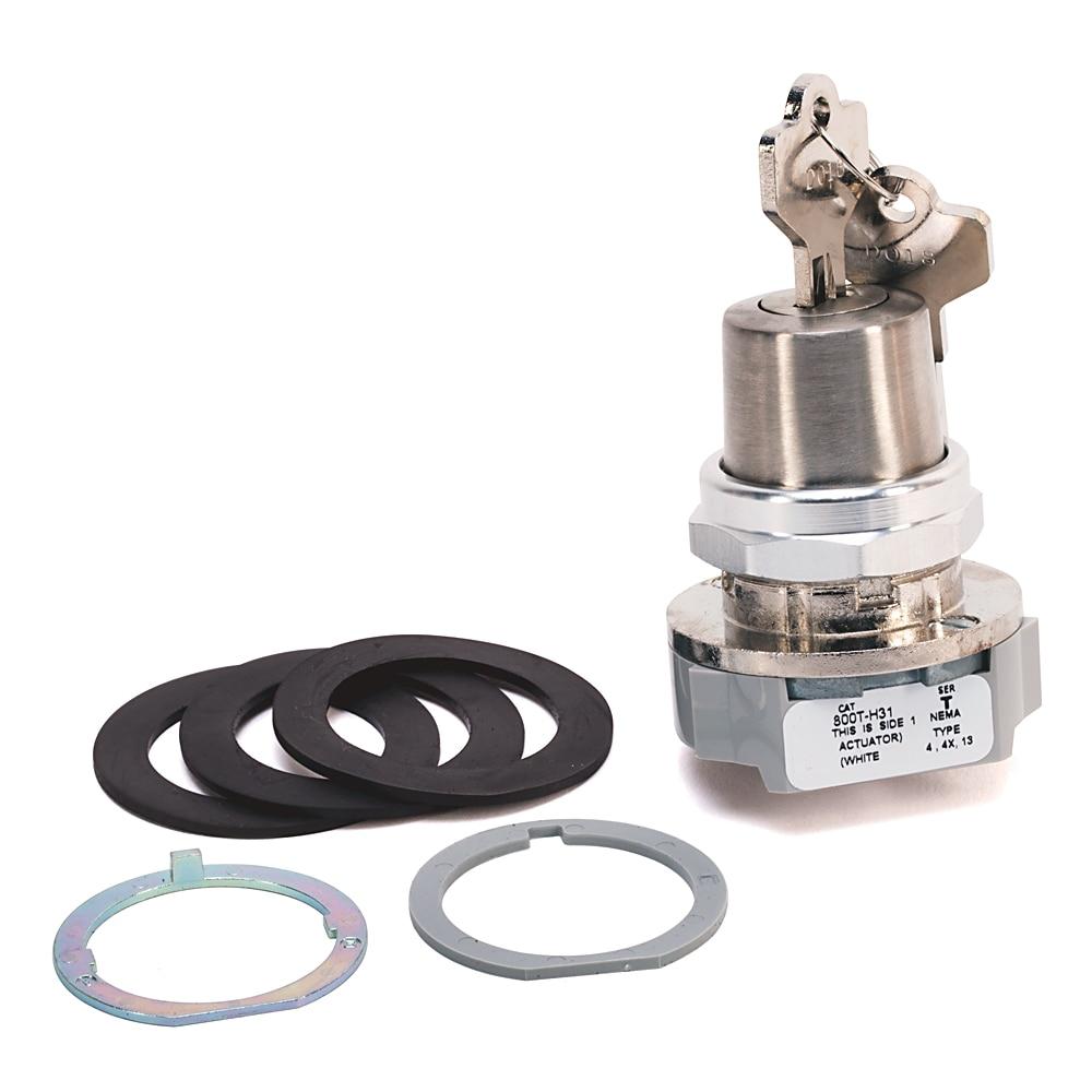 Allen-Bradley 800T-H31AP Standard Key 30.5 mm Type 4/13 2-Position Cylinder Lock Selector Switch