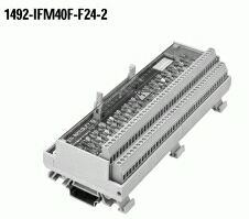 A-B 1492-IFM40F-F24-2 INTERFACE MODULE 40PT W/ 24VAC/DC BLOWN FUSE LEDS AND XTRA TERMINALS FOR OUTPUTS