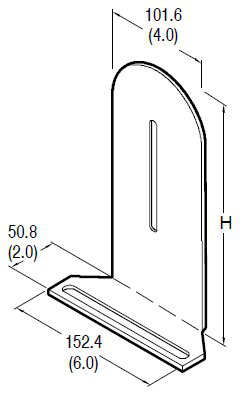 60-2718 Reflector Veritcal Height Adjustment Bracket (2 X 8 in.)
