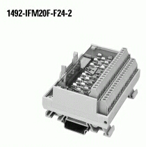 A-B 1492-IFM20F-F24-2 INTERFACE MODULE 20PT W/ 24VAC/DC BLOWN FUSE LEDS AND XTRA TERMINALS FOR OUTPUTS